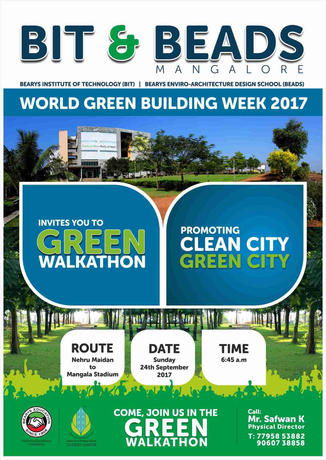 Green Walkathon A3poster 2017