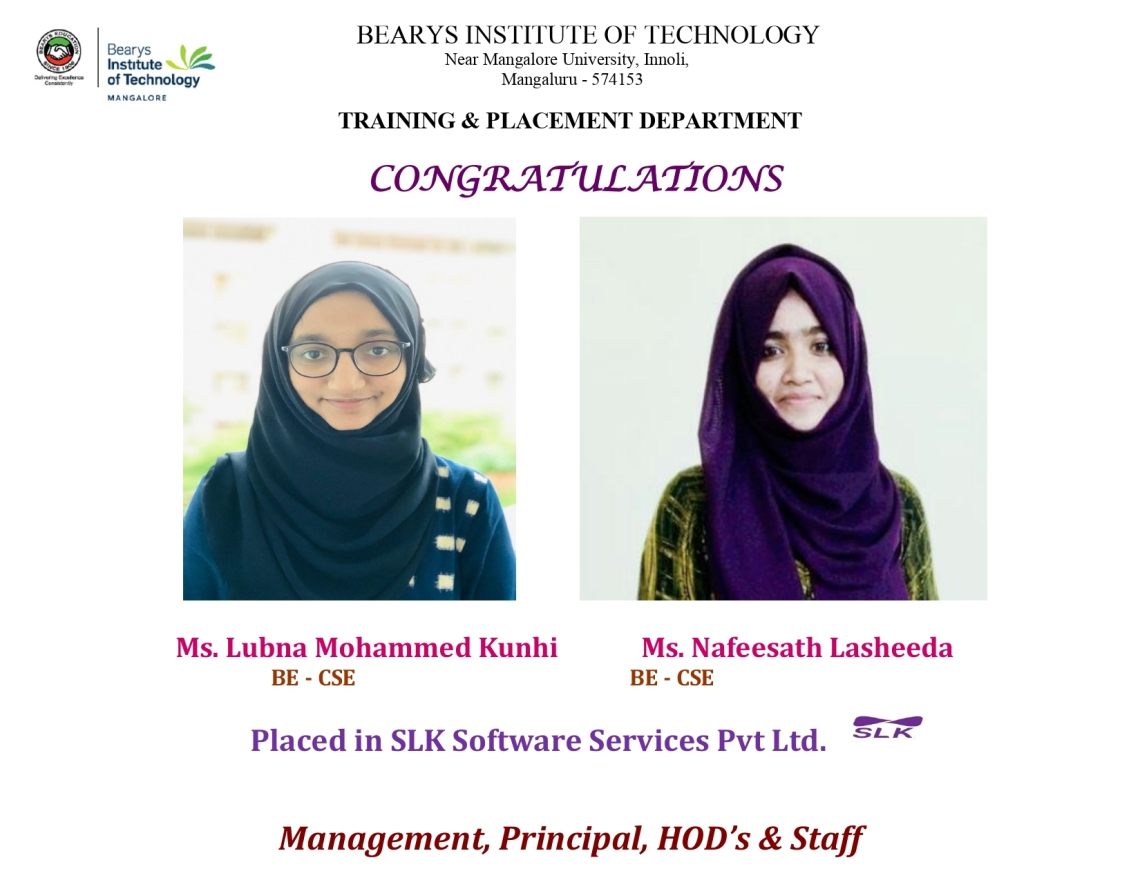 Congratulations to the students placed in BIT campus interview_page-0001